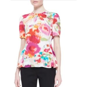 Kate spade watercolor floral short sleeve top